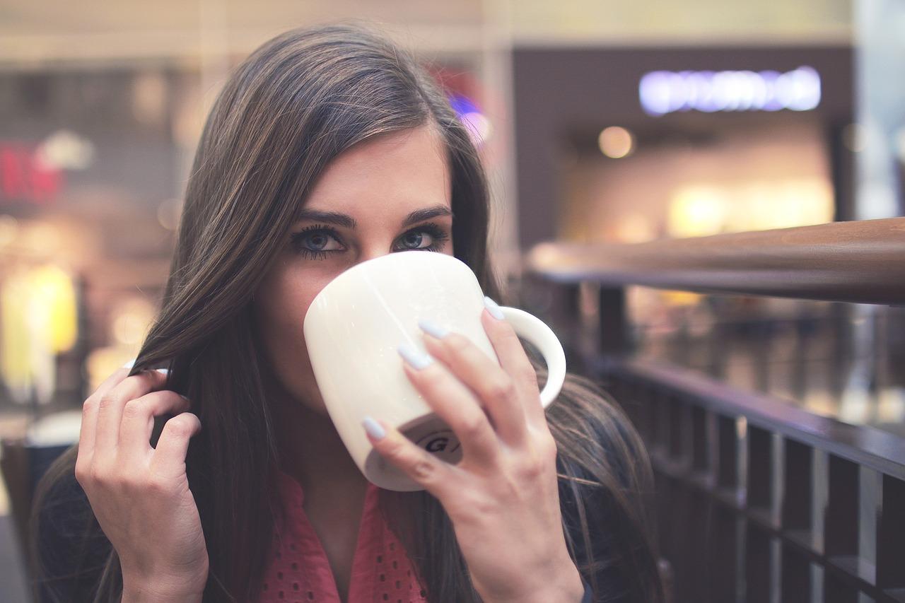 drinking, female, mug